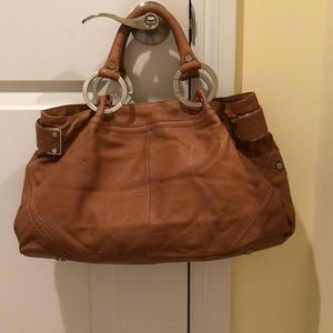 Kenneth Cole NY brown leather handbag